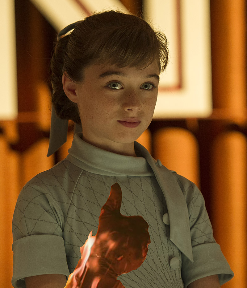 Disney's TOMORROWLAND..Athena (Raffey Cassidy)..Ph: Kimberley French..©Disney 2015