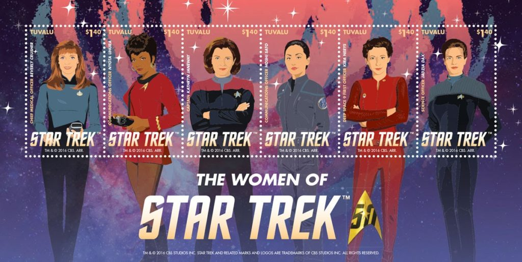 Tuvalu Women of Star Trek postage stamps